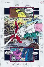 NEW TITANS COMICS #98 OG COLOR PRODUCTION ART SIGNED ADRIENNE ROY COA PG 23