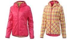 New Womens Medium ADIDAS Reversible Wind Pink Plaid Coat Jacket G79855 Nwt