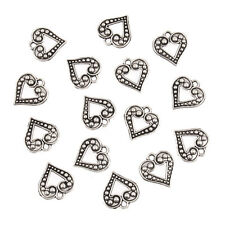 Fancy Open Metal Heart Charms 15 Pack Craft For Occasions - Small - C2309