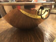8.5� Antique copper mixing bowl w/brass ring/4� High