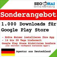 1.000 downloads for Google Play Store - 1.000 real users for your Android App