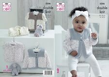 KINGCOLE 5206 Baby DK Knitting Pattern -sizes 14-22in - Not the finished items