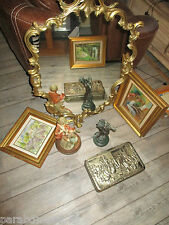 Ancien miroir bronze-Grand modèle-Style louis XV-86 cm-French antiques