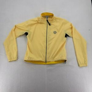 Cannondale Womens Moc Neck Full Zip Cycling Jackets Yellow Small #RN 101113