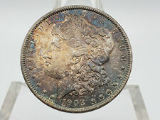 1903 Morgan Silver Dollar **TOTALLY UNC w/ COMPLEX AMBER, COBALT TONING**