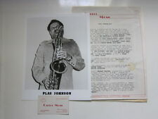 PLAS JOHNSON Press kit with  8x10 photo and a business card