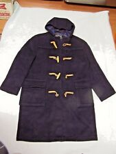 GLOVERALL Mens Wool Blend Black Duffle Coat Size M (England)