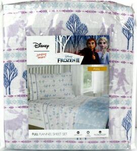 Disney Frozen 2 Flannel Sheet Set FULL SIZE bed 100% Cotton Jumping Beans