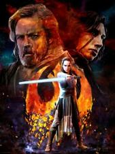 Star Wars VIII The Last Jedi Rebellion Luke Rey Kylo Cliff Cramp Disturbance Art