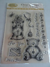 New - Clear - Cling Stamps - Bubble and Squeak - Daisy And Dandelion  - Bears