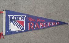 """NHL New York Rangers Pennant Vintage 1970 - 30"""" x 12"""""""