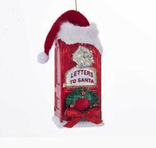 Kurt Adler Mailbox With Santa Hat Glass Ornament