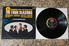 THE FOUR SEASONS RECORDED LIVE ON STAGE, VEE-JAY RECORDS LP, 1960'S