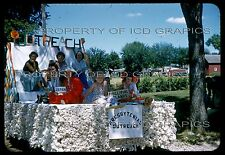 Vtg COAL VALLEY SMALL TOWN PARADE 35mm PHOTO SLIDE - Church Outreach Float Kids