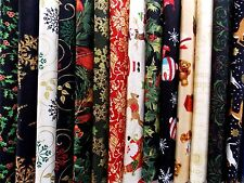 "Assorted Christmas Fabric 40 Pc Charm Pack 5"" Fabric Squares  Premium Cotton"