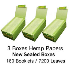 "3 boxes 180 booklets Moon Hemp Cigarette Rolling Papers 1.25"" 77*45mm"