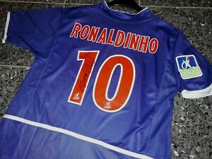 "Paris Saint-Germain ""RONALDINHO"" Nike Trikot; Handsigniert Gr.M  CHARITY"""