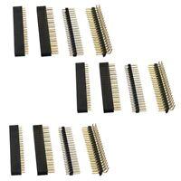 1X(12 Pièces Séries Kit D'En-Tête Gpio 40 Broches 20X2 Broches Prise D'En-T Y6H5