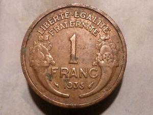 1 FRANC - MORLON - 1935 - RARE & BELLE QUALITE TTB !