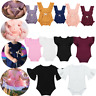 Infant Baby Girl Flutter Sleeves Clothes Cotton Romper One-Piece Jumpsuit Outfit