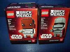 LEGO Star Wars Brickheadz Lot 41485 41486 FINN #19  + CAPTAIN PHASMA #20 figure