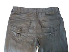 G by GUESS Men's Calan Low Straight Korbin Coated Black Jeans Size 33