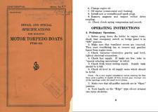 PT BOAT ARCHIVE MANUALS DOCUMENTS MOTOR TORPEDO MTB NAVY PATROL WW2 WWII PERIOD