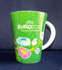 UEFA EURO 2012 POLAND UKRAINE FOOTBALL SOCCER COFFEE MUG CUP Green W/Box
