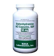 Diphenhydramine HCL 50mg, 1000 Capsules