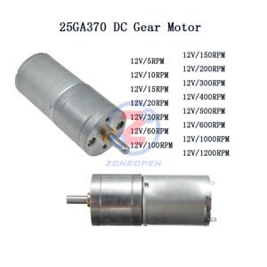 DC 30/60/600RPM 12V Powerful Torque Micro Speed Reduction Gear Box Motor