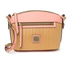 DOONEY&BOURKE Light Pink Beacon Woven Embossed Domed Crossbody Shoulder Bag NEW
