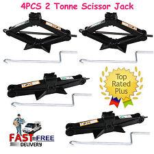 4Pcs 2 Tonne 4400lb Rv Camper Scissor Leveling Jacks Trailer Stabilizer w/Handle