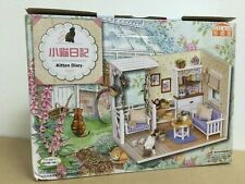 Diy sweet home Dollhouse Miniature Model Kit - Kitten Diary