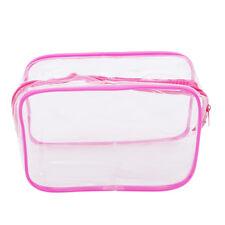 Waterproof Portable Zip Transparent Clear Travel Cosmetic Wash Bag Storage Kit s