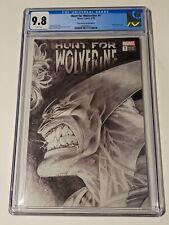 Hunt For Wolverine 1 CGC 9.8 Kubert 1:1000 B&W Remastered Sketch