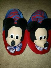 Vintage 90s Disney's Mickey Mouse Slippers Kids Large 9-10