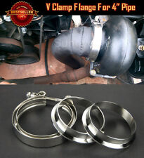 "T304 Stainless Steel V Band Clamp Flange Assembly For Dodge 4"" OD Exhaust pipe"