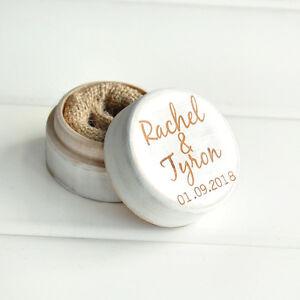Personalized Wedding Ring Box Proposal Ring Bearer Box Engagement Ring Holder