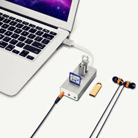 EG_ FM- 3Port USB 2.0 HUB With TF SD Card Reader Type C 3.1 Adapter For Laptop M