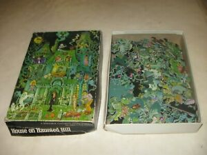 1973 SPRINGBOK HOUSE ON HAUNTED HILL JIGSAW PUZZLE IN THE BOX 99 pcs MISSING 1pc