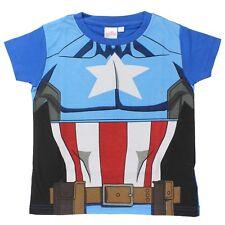 Boys Kids Official Marvel Avengers Captain America T-shirt Dress Up 6-7 Years