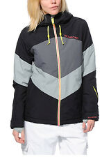 Billabong Colors Jacket Womens Snowboard Ski 10k Waterproof Insulated Black L