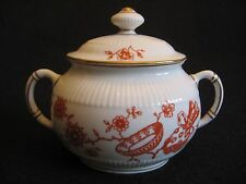 VICTORIAN ROYAL CROWN DERBY 'Haddon-Red' #2416 Fluted Sugar Bowl c.1887 SUPERB!!