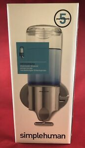 Simplehuman Single Wall Mount Shower Soap Dispenser Pump - Stainless Steel New