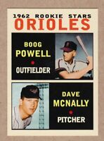 Dave McNally & Boog Powell '62 Baltimore Orioles rookie stars Pastime series