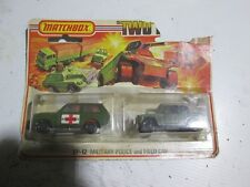 Matchbox Two Pack Tp-12 Military Police And Field Car Rare Coillectable