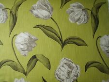 "HARLEQUIN  CURTAIN FABRIC DESIGN ""Liana 3.6 METRES COFFEE BARK AND LIME"