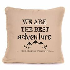 Personalised Best Adventure Pillow Cushion Couple Valentines Day Wedding Gift