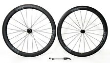 STRADALLI CARBON CLINCHER ROAD BIKE WHEELSET WHEELS BLACK WIDE 50/50 27 AERO SET
