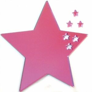 Stars out of Star Mirrors (3mm Acrylic Pink Mirror, Several Sizes Available)